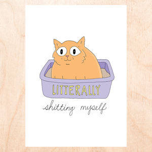 Literally Shitting Myself Greeting Card