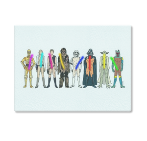 Star Wars Naughty Lightsabers Cutting Board