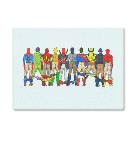 Superhero Butts Cutting Board