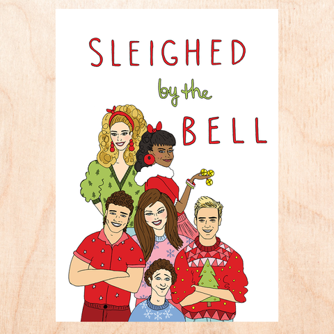 Sleighed By The Bell Greeting Card