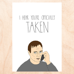Officially Taken Greeting Card