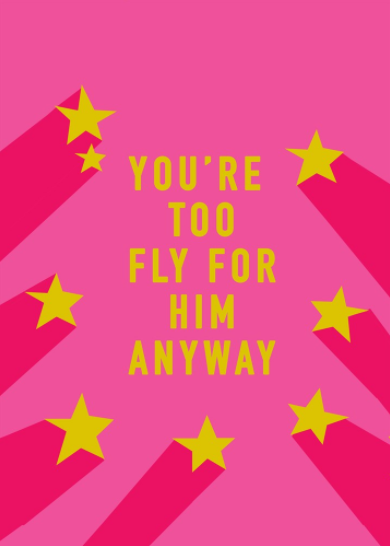 You're Too Fly For Him Greeting Card