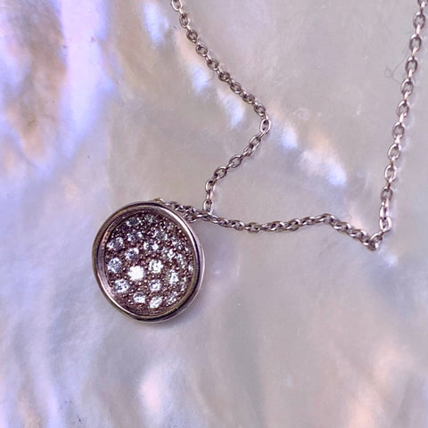 Diatom Necklace Pave Diamonds