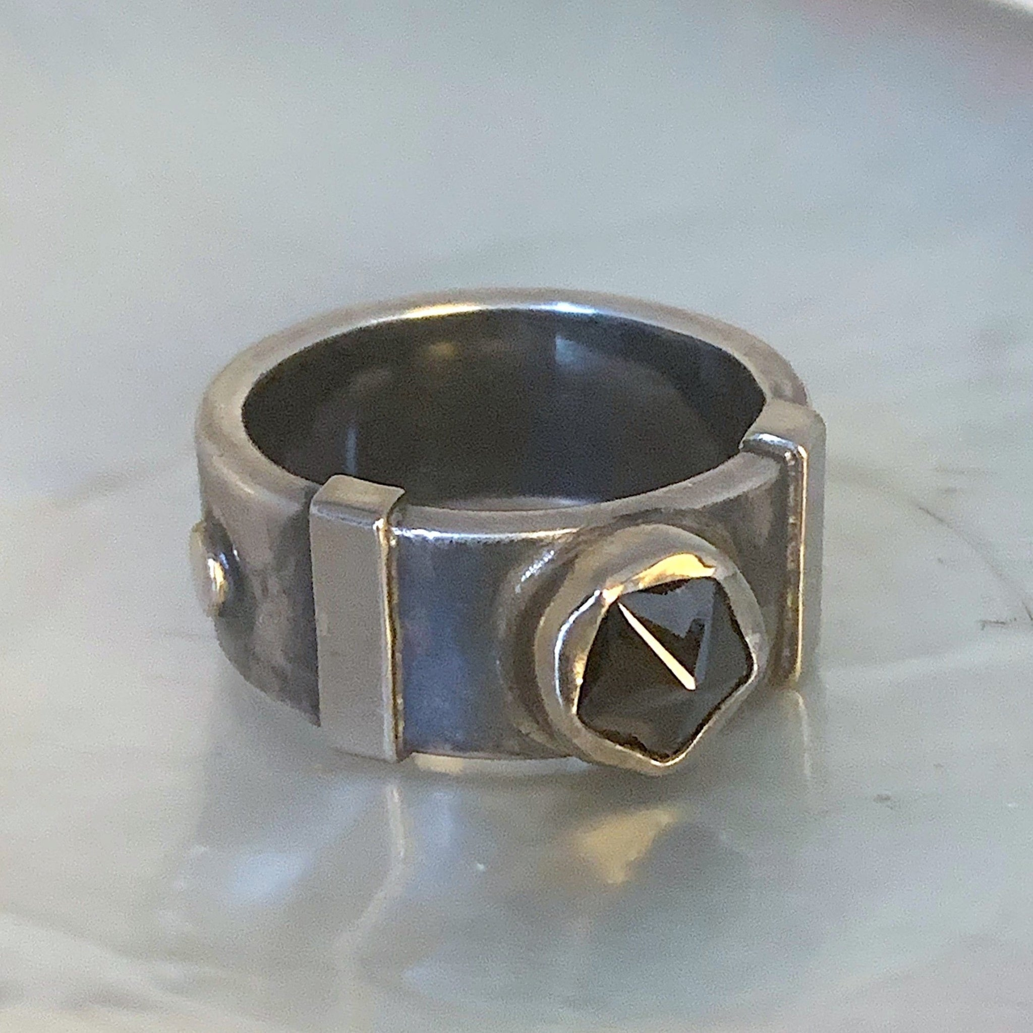 Mens Ring Star Diamond