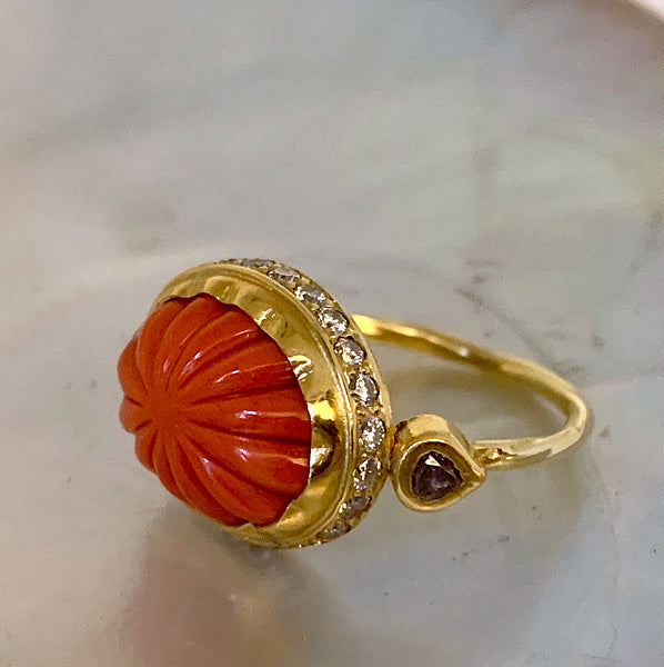 Cocktail Ring Coral