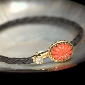 Sputnik Bracelet Coral Diamonds