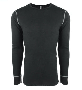Adult Unisex Long-Sleeve Thermal with Sleeve Logo