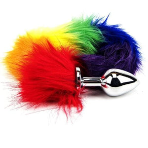 Furry Fantasy Rainbow Tail Butt Plug on Top Drawer Essentials
