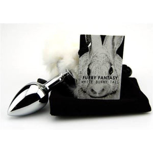 Furry Fantasy White Bunny Tail Butt Plug - Top Drawer Essentials