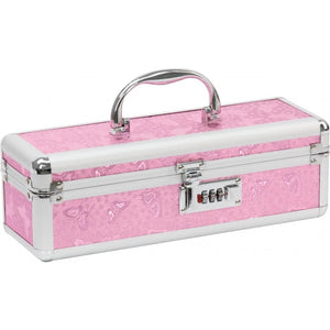 Lockable Medium Vibrator Case in Pink, Black, Silver or Purple - Top Drawer Essentials