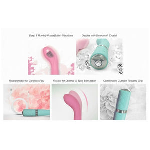 Pillow Talk Sassy Rechargeable Vibrator in Pink and Teal - Top Drawer Essentials
