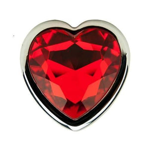 Precious Metals Heart Shaped Silver Anal Butt Plug - Top Drawer Essentials