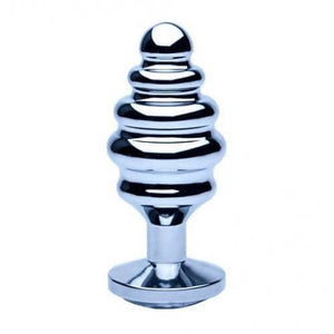 Precious Metals Ribbed Silver Anal Plug - Top Drawer Essentials