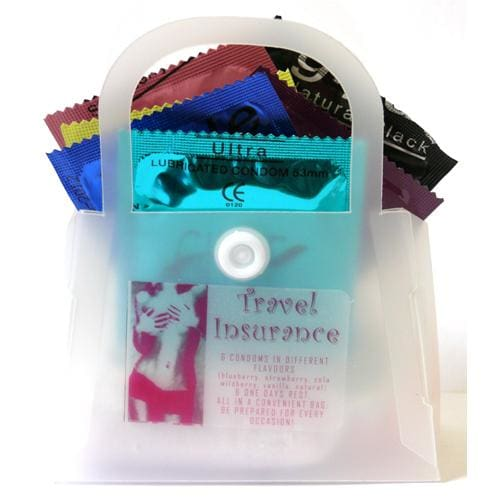 Travel Insurance Condoms (6pack) - Assorted Colours (53mm) - Top Drawer Essentials