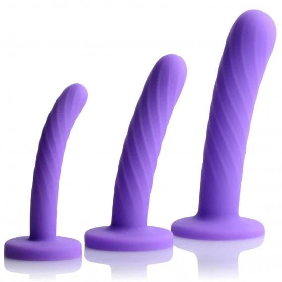 Tri-Play 3 Piece Silicone Dildo Set - Top Drawer Essentials