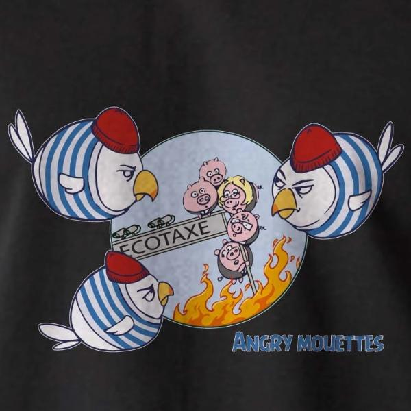 Sweat / Pull Breton Humoristique Angry Mouettes - Adultes/Enfants