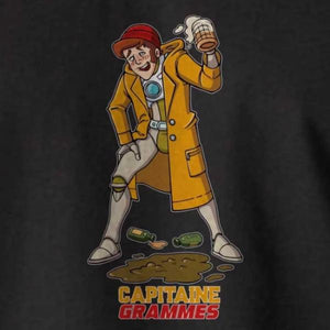 T-shirt breton humoristique Capitaine Grammes - Adultes