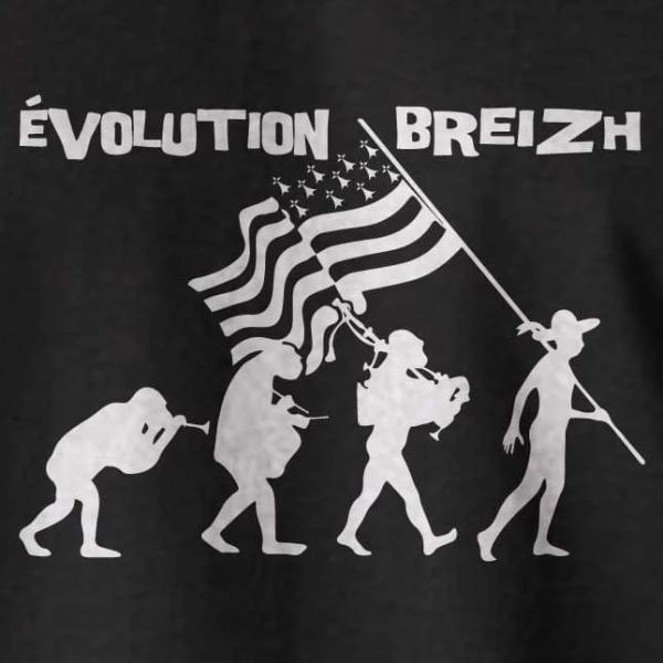 T-shirt breton humoristique Evolution Bretonne - Adultes/Enfants