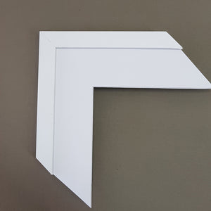 Custom Frame in White 20mm x 20mm Complete ready to hang package