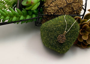 Bronze Abstract Textured Pendant, Small