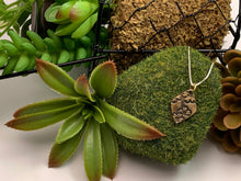 Bronze Textured Pendant, Small Dogwood