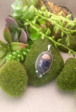 Sodalite Pendant with Floral