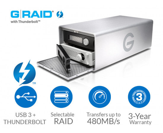 G-TECHNOLOGY G-RAID WITH THUNDERBOLT 2 AND USB 3.0 8TB (0G04085)