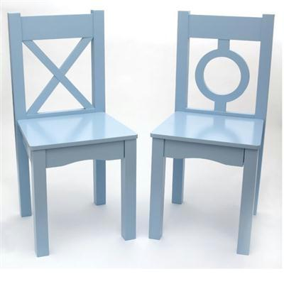 Childs Chairs Light Blue 2pk