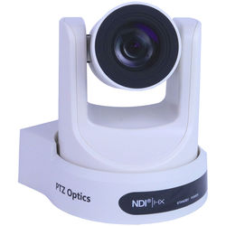 PTZOptics 30X-NDI Broadcast and Conference Camera (White)