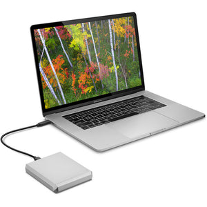 LaCie 5TB USB 3.1 Type-C Mobile Drive (Moon Silver) (STHG5000400)