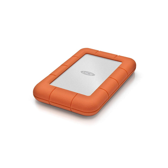 LaCie Rugged Mini 1TB USB 3.0 / USB 2.0 Portable Hard Drive + 1mo Adobe CC All Apps (LAC301558)