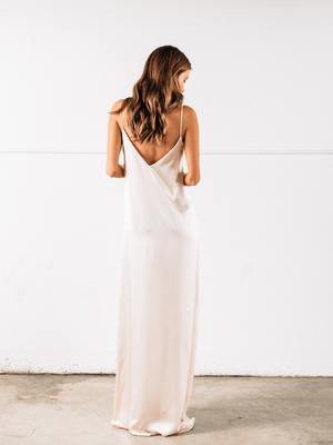 Long Petal Slipdress - Blush Shop Carol Hannah