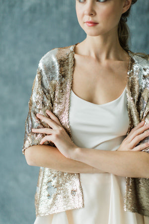 Sequin Smoking Jacket Shop Carol Hannah