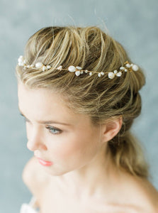 Gold and Baroque Pearl Headpiece Shop Carol Hannah