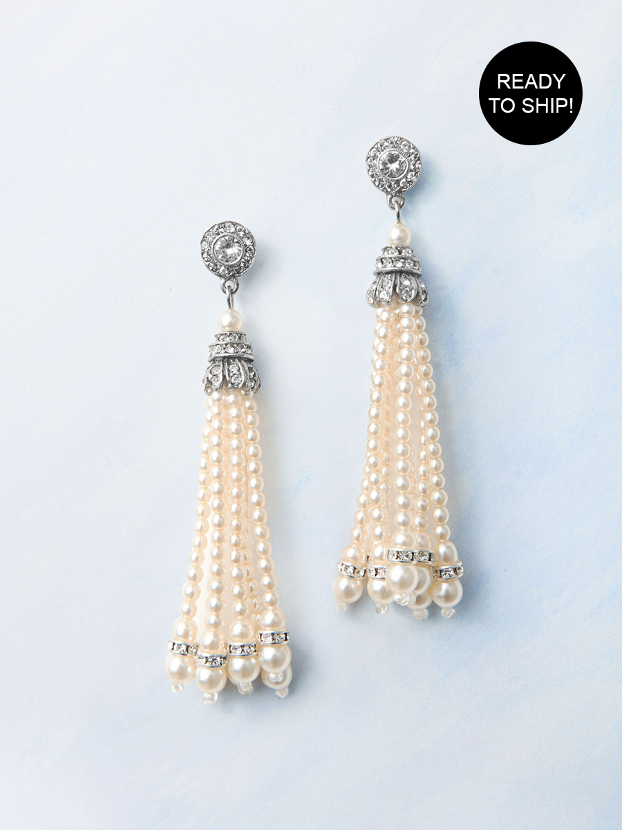 Pearl Tassel Earrings - Ready to ship