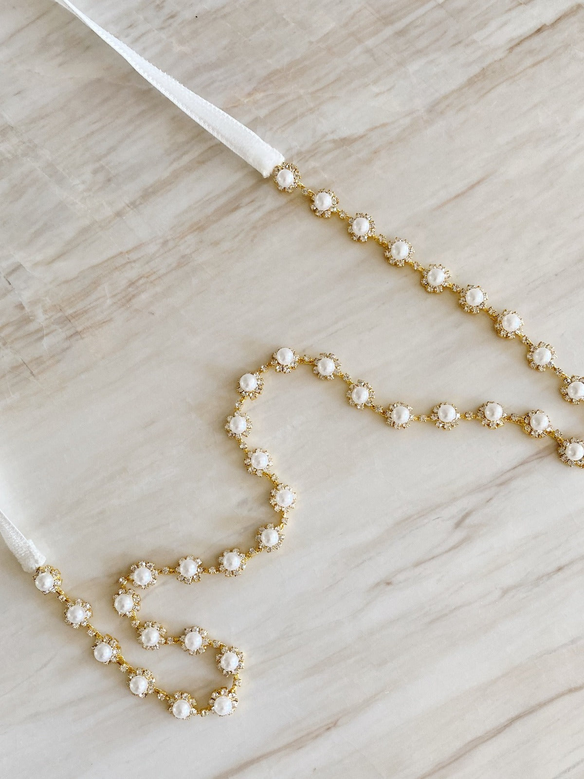 Pearl Drop Sash - Ready to ship
