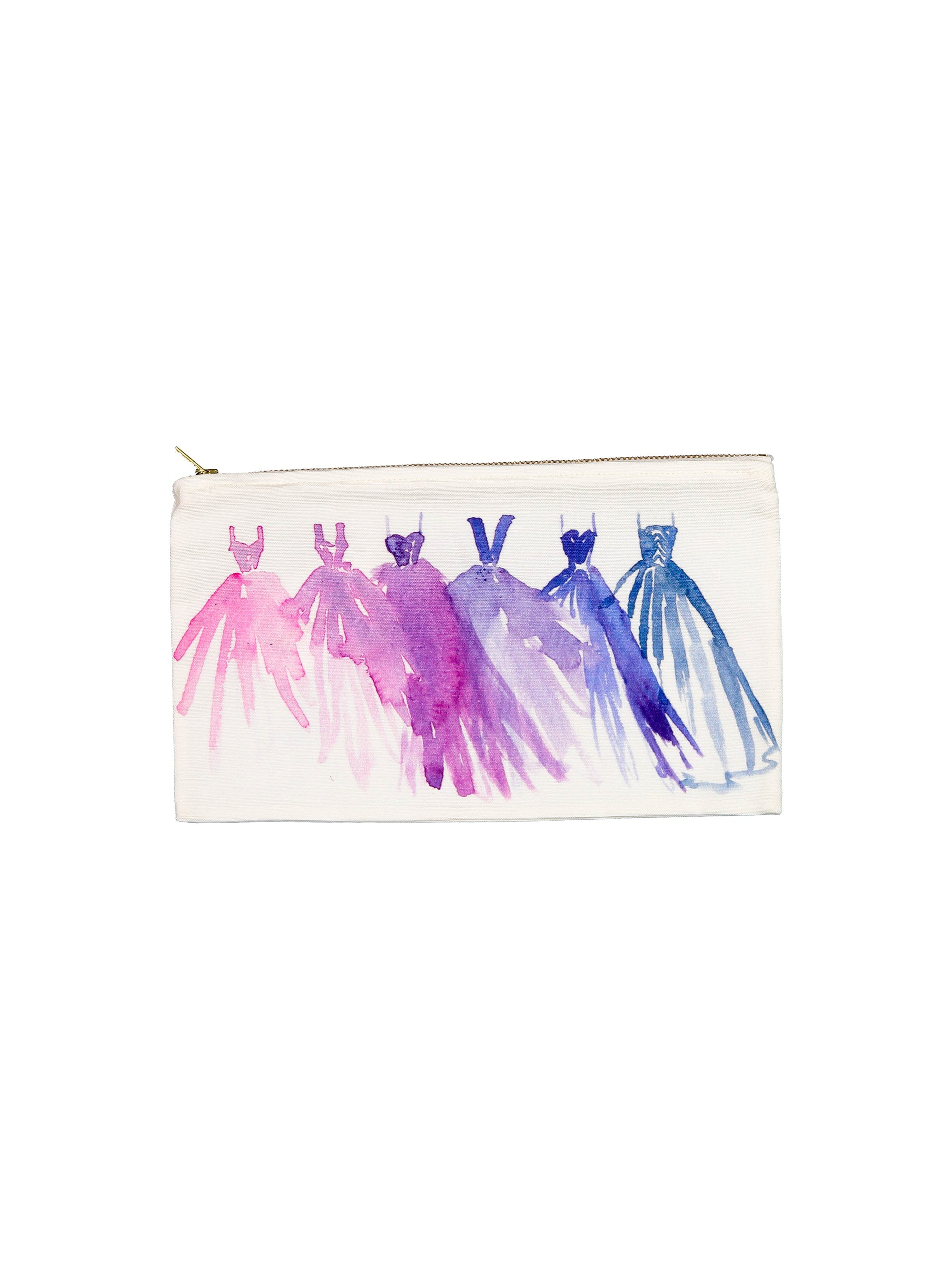 Watercolor Zip Bag