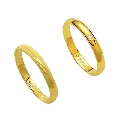 Alliance-Gold-18k-750-Width-2.80mm-Height-1.10mm-/-Alliance-18k-Gold-750-with-1-Brilliant-1.00-Points-Width-2.80mm-Height-1.10mm