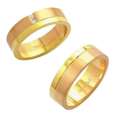 Alliance-Gold-and-18k-Gold-Red-750-Width-6.00mm-Height-1.50mm-/-Alliance-Gold-and-18k-Gold-Red-750-with-2-Brilliant-2.25-Points-Width-6.00mm-Height-1.50mm
