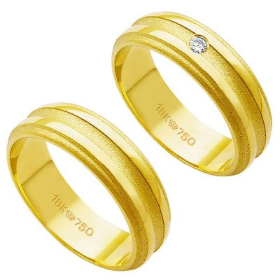 Alliance-Gold-18k-750-Width-6.00mm-Height-1.50mm-/-Alliance-18k-Gold-750-with-1-Brilliant-3.50-Points-Width-6.00mm-Height-1.50mm