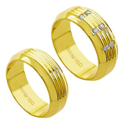 Alliance-Gold-18k-750-Width-7.50mm-Height-1.80mm-/-Alliance-18k-Gold-750-with-6-Brilliant-2.25-Points-Width-7.50mm-Height-1.80mm