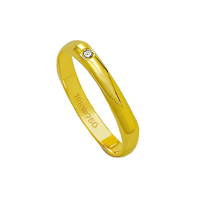 Alliance-18k-Gold-750-with-1-Brilliant-2.25-Points-Width-3.00mm-Height-0.80mm