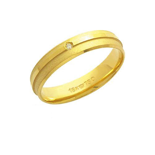 Alliance-Anatomic-18k-Gold-750-with-a-brilliant-1.00-Points-Width-4.50mm-Height-1.30mm