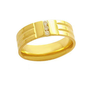 Alliance-Anatomic-18k-Gold-750-with-3-Brilliant-Points-of-3.50-Width-6.50mm-Height-1.70mm