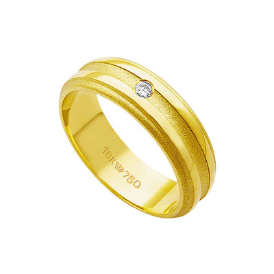 Alliance-18k-Gold-750-with-1-Brilliant-3.50-Points-Width-6.00mm-Height-1.50mm