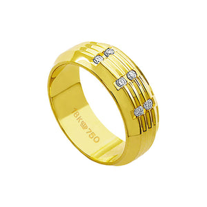 Alliance-18k-Gold-750-with-6-Brilliant-2.25-Points-Width-7.50mm-Height-1.80mm