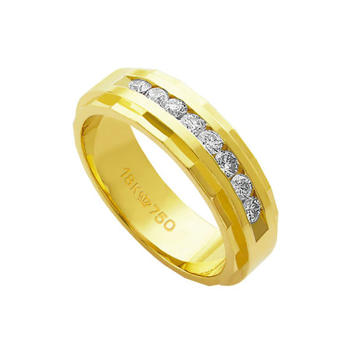 Alliance-18k-Gold-750-with-15-brilliant-2.25-Points-Width-6.00mm-Height-2.00mm