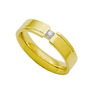 Alliance-Anatomic-18k-Gold-750-with-1-Brilliant-11.00-Points-Width-5.00mm-Height-2.20mm