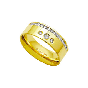Alliance-Anatomic-18k-Gold-750-with-17-brilliant-2.25-Points-Width-7.50mm-Height-1.80mm