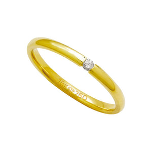 Alliance-Anatomic-18k-Gold-750-with-1-Brilliant-3.50-Points-Width-2.00mm-Height-1.50mm